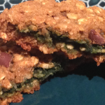 St. Patty's Day Oatmeal Cookies. Gluten-Free and Vegan.